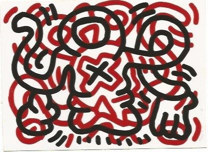 Lithographie Haring - Ludo - 3