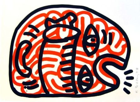 Lithographie Haring - Ludo 2