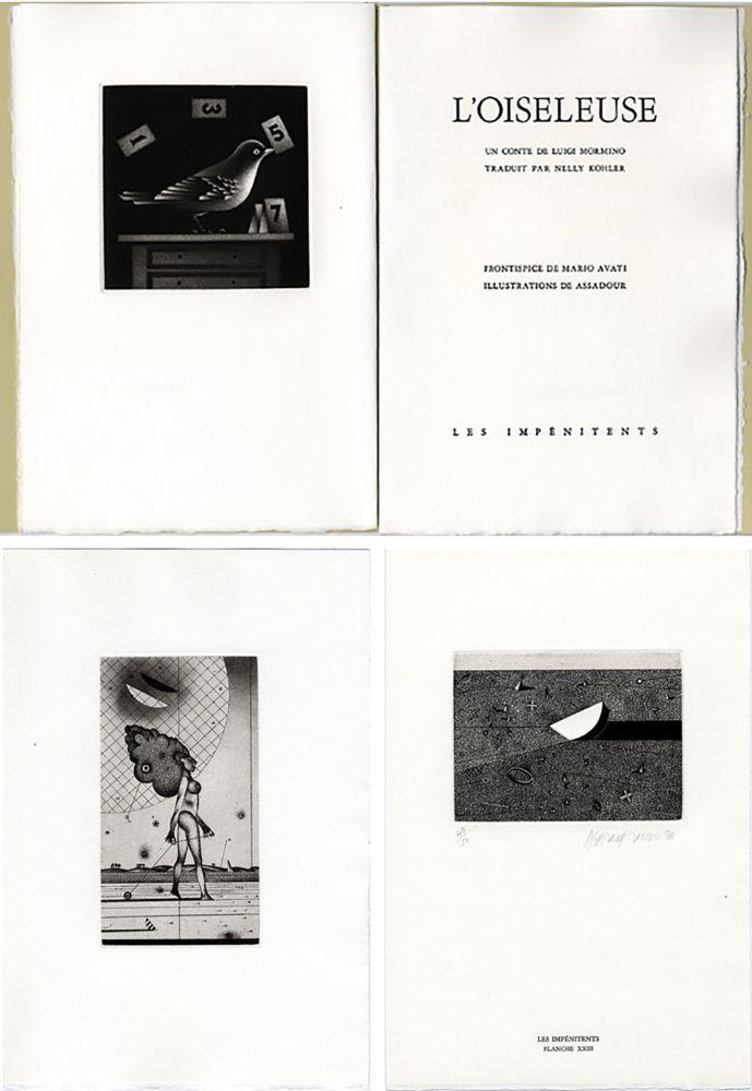 Livre Illustré Avati - Luigi Mormino : L'OISELEUSE (L'UCCELLATRICE). Gravures de Avati et d'Assadour.