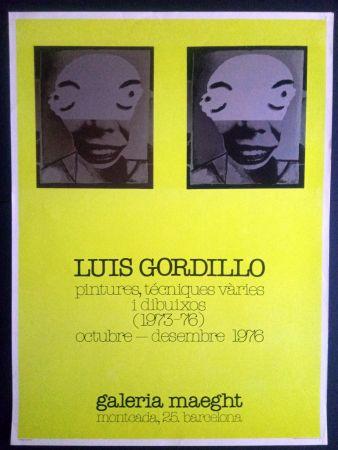 Affiche Gordillo - Luis Gordillo - Pintures técniques vàries i dibuixos - Galeria Maeght 1976