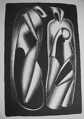 Lithographie Archipenko - Luminositè des formes (Les formes vivantes)