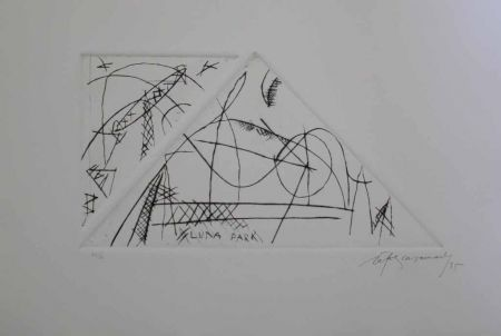 Gravure Ràfols Casamada - Luna Park 1