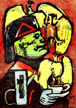 Livre Illustré Maccari - Lunch at Mussolini