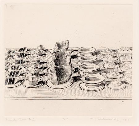 Gravure Thiebaud - Lunch Counter, from Delights