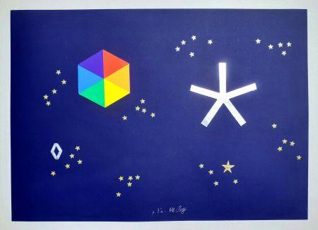 Sérigraphie Del Pezzo - L'universo di stelle