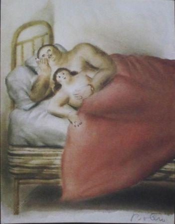 Lithographie Botero - Lussuria,