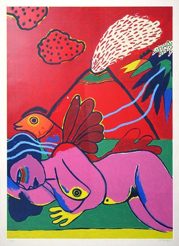 Lithographie Corneille - Lying Nude (Liegender Akt)