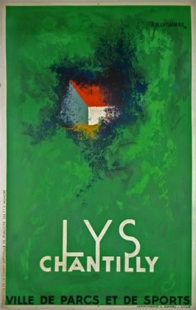 Lithographie Cassandre - Lys Chantilly