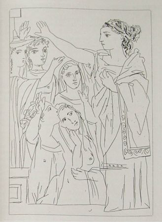 Gravure Picasso - Lysistrata By Aristophanes (Signed Book)