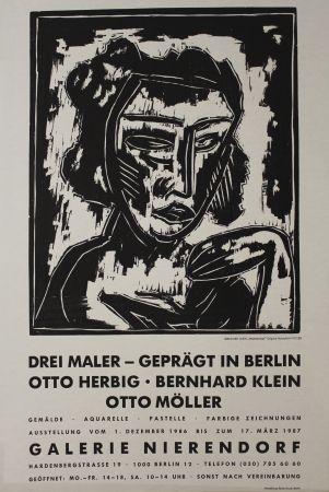 Gravure Sur Bois Klein - Mädchenkopf