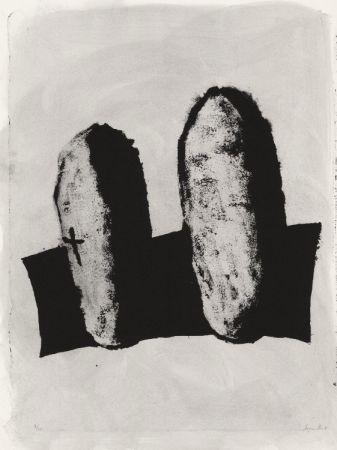Lithographie Le Groumellec - Mégalithes
