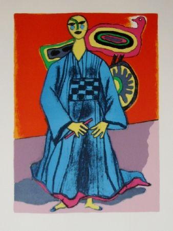 Lithographie Corneille - Mémoire du japon- la magicienne