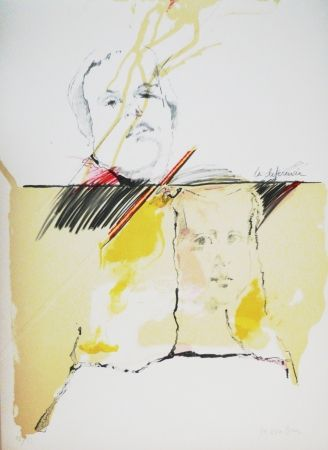 Lithographie Bru - Ménine