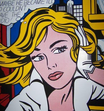 Sérigraphie Lichtenstein - M-maybe