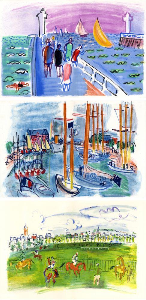 Livre Illustré Dufy - M. de Saint-Pierre : LES CÔTES NORMANDES. Lithographies de Raoul Dufy (1961)