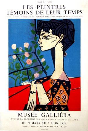 Affiche Picasso -  M  Jacqueline  Exposition les Peintres  Témoins de leur Temps  Musée Galiera