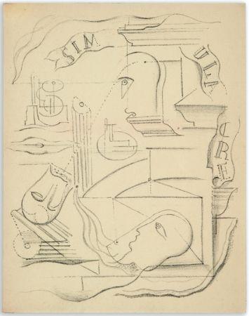 Livre Illustré Masson - M. Leiris & A. Masson : SIMULACRE. Poèmes et lithographies (1925)