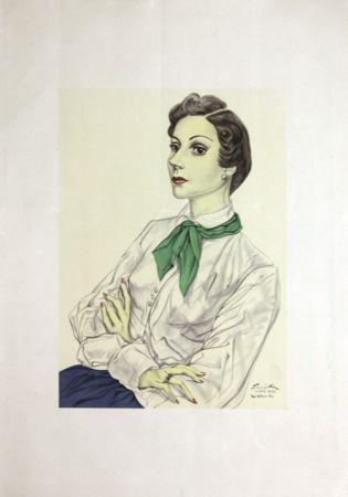 Lithographie Foujita - Madame  Conchita Mendes