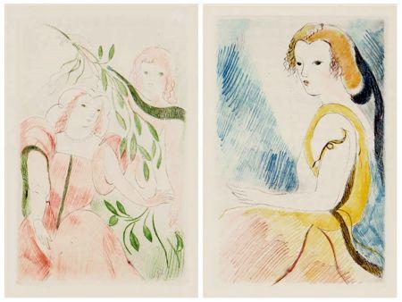 Livre Illustré Laurencin - Madame de Lafayette : LA PRINCESSE DE CLÈVES (1947)