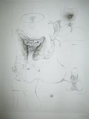 Gravure Bellmer - Madame Et Servoi