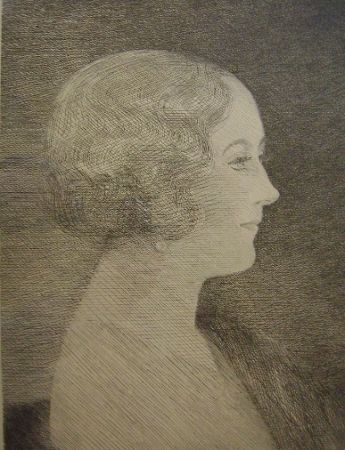 Gravure Marcoussis - Madame Marcel M. Markous