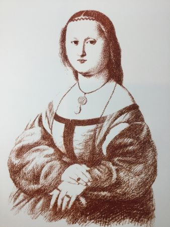 Lithographie Bueno - Maddalena Doni