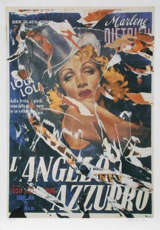 Sérigraphie Rotella - Made to Order Love (Marlene Dietrich)