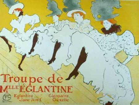 Lithographie Toulouse-Lautrec - Mademoiselle Eglantine