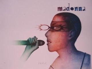 Lithographie Wunderlich - Madonna