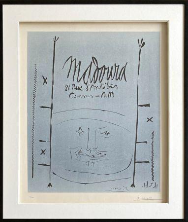 Linogravure Picasso - Madoura 1961