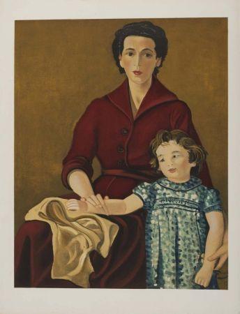 Lithographie Derain - Madre e hija