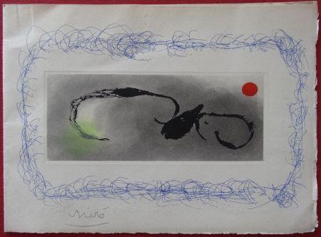 Gravure Miró - Maeght Voeux 1963
