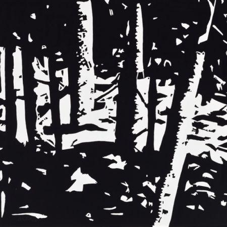 Gravure Sur Bois Katz - Maine Woods II