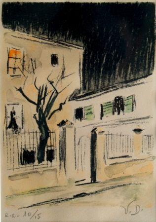 Lithographie Van Dongen - Maison a Paris