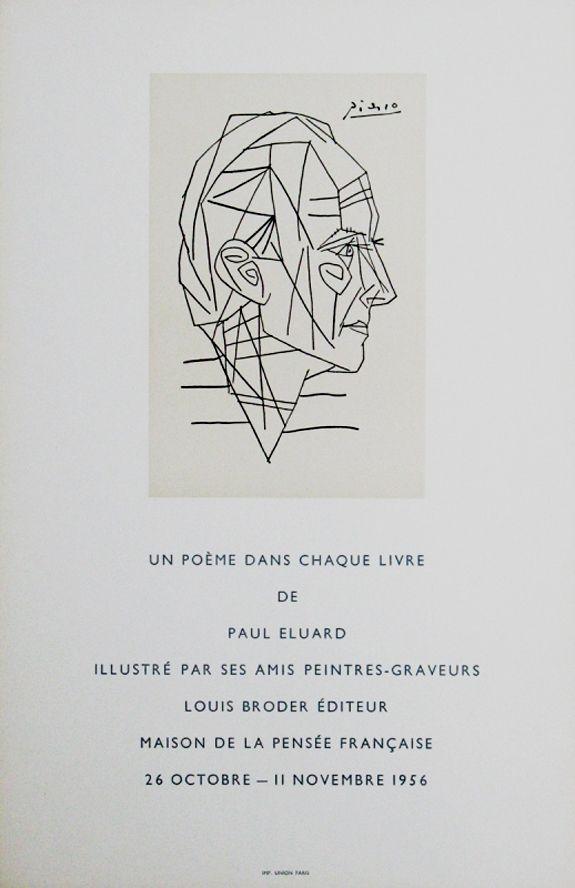 Affiche Picasso - '' Maison de la Pensée Francaise ''