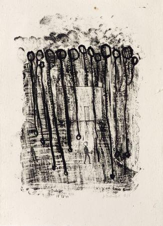 Lithographie Dubuffet - Maison forestière