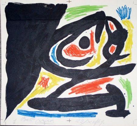 Lithographie Miró - Maitres graveurs contemporain
