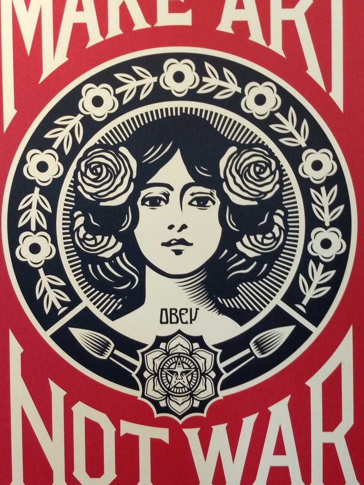 Lithographie Fairey - Make Art Not War