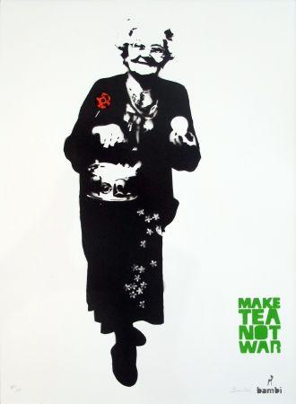 Sérigraphie Bambi - Make Tea Not War