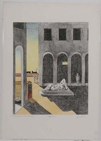 Lithographie De Chirico - Malinconia, 1972