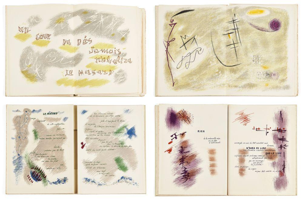 Livre Illustré Masson - Mallarmé : UN COUP DE DÉS JAMAIS N'ABOLIRA LE HASARD. 28 lithographies originales en couleurs (1961)
