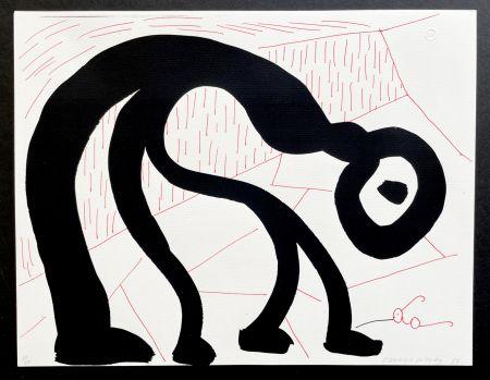 Aucune Technique Hockney - Man Looking for his glasses, April 1986