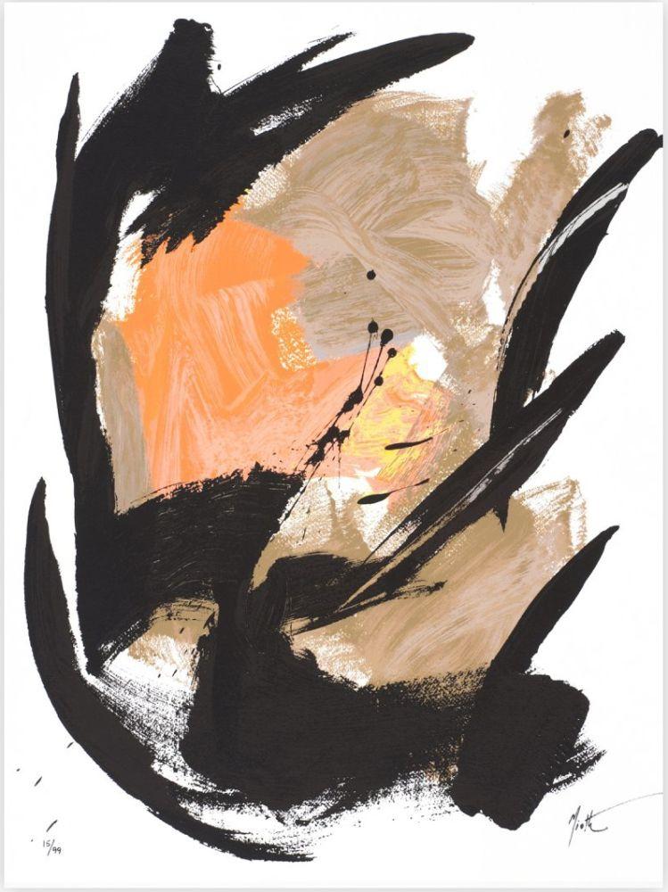 Sérigraphie Miotte - Mancha Central Naranja