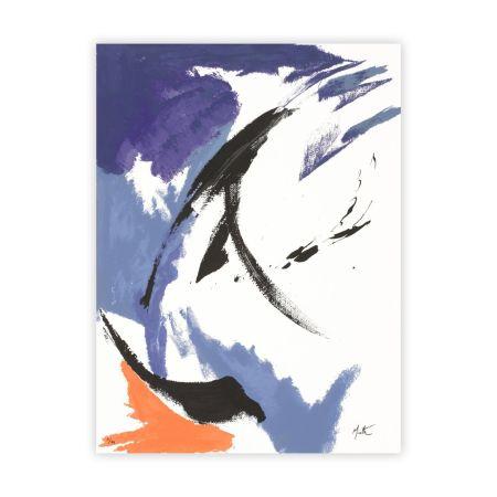 Sérigraphie Miotte - Mancha Naranja Inferior Izquierda