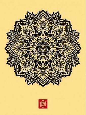 Sérigraphie Fairey - Mandala Ornament 1 Cream