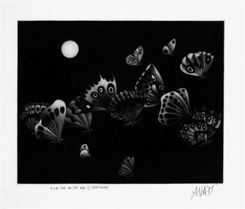 Manière Noire Avati - Manière noire au 13 papillons (1964)