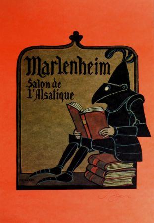 Lithographie Ungerer - Manlenheim   Salon de L'Alsatique