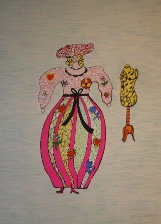 Lithographie De Saint Phalle - Mannequin