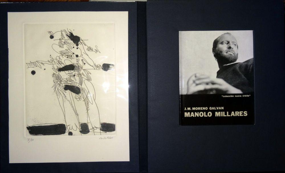 Livre Illustré Millares - Manolo Millares - Colección Nueva orbita - Incluye un aguafuerte - Firmado y numerado