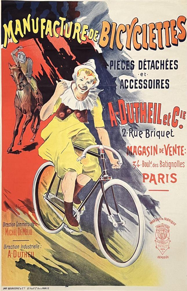 Lithographie Corrois - Manufacture de Bicyclettes